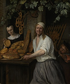 Jan Steen, Baker with pretzels, from 1658 Rijksmuseum