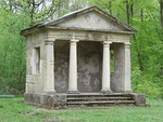 Temple of Leod Lud about 300m due south of the Rotunda in the Black Fen Pleasure Grounds