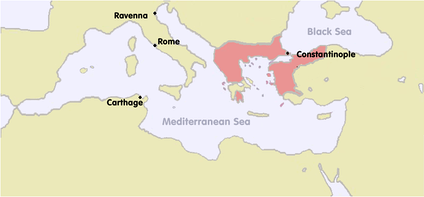 Map of the Byzantine Empire in c. 1270. After the damage caused by the collapse of the theme system, the mismanagement of the Angeloi and the catastrophe of the Fourth Crusade, for which the Angeloi were largely to blame, it proved impossible to restore the empire to the position it had held under Manuel Komnenos.