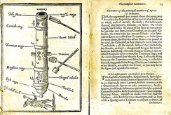 The parts of a cannon described in John Roberts' The Compleat Cannoniere, London, 1652