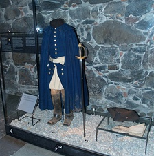 Charles XII of Sweden's uniform, the one he wore when he died at Fredriksen. On display at Livrustkammaren i Stockholm.