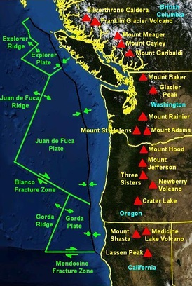 The Mendocino Fracture Zone between the Gorda Plate and Pacific Plate