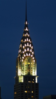 Climax of the new architectural style: the Chrysler Building in New York City was built after the European wave of Art Deco reached the United States.