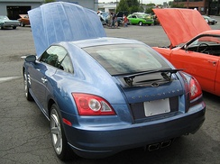 Retractable spoiler on a Chrysler Crossfire