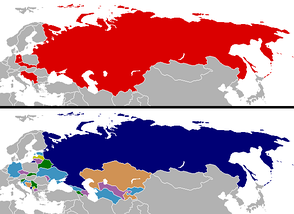 Changes in national boundaries after the collapse of the Eastern Bloc