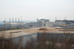 Liberty Speciality Steels Primary Mill continuous casting site in Aldwarke (Rotherham) in December 2007