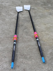 A pair of carbon fibre sculling oars used for sport rowing