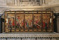 The Despenser Retable, late 14th century. The five panels depict the death and resurrection of Christ