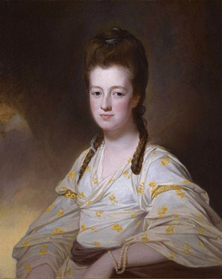 Lady Dorothy Cavendish, wife of William Cavendish Bentinck. (George Romney)