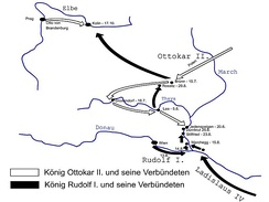 Movements of the opposing forces prior to the battle (in German)