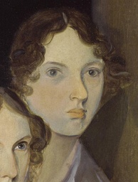 The only undisputed portrait of Emily Brontë,[118] from a group portrait by her brother Branwell