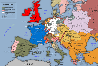 The Confederation, shown within Europe in 1700