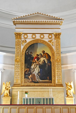 An altarpiece by Carl Timoleon von Neff at the Helsinki Cathedral