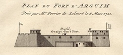 The Dutch fort of Arguin in 1721.