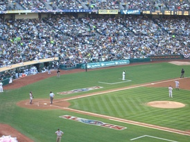 Game 1 in Oakland, California