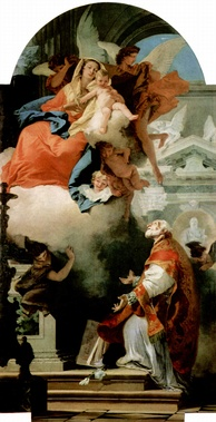 Gianbattista Tiepolo, Madonna and Child with Saint Philip Neri, 1739–40