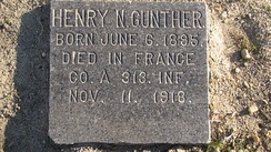 Gravestone of Henry N. Gunther in Baltimore