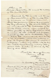 The Corwin Amendment as approved by the 36th U.S. Congress, March 1861