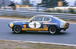 Hans Heyer 1973 with Ford Capri at the Nürburgring