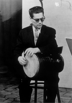 Hossein Tehrani is known as a pioneer of playing the tombak in 20th century Persian music.