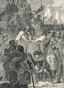 King John of England signs Magna Carta