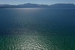 Lake Tahoe, view of California shore from Nevada side