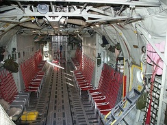 Cargo compartment of a Swedish Air Force C-130