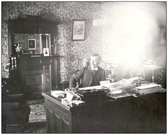 Lieutenant Governor Amédée E. Forget in his office at Government House, 1898