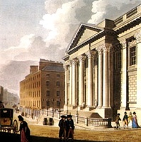 "18th Century view of the Royal Exchange, Dublin; one of ""Malton's views of Dublin"", 1779"