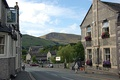Looking west, Mam Tor towers above the main street of Castleton