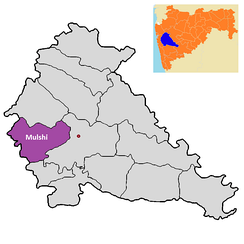 Location of Mulshi Taluka in Pune district