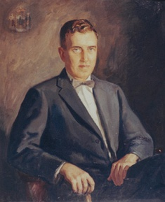 Muskie's legacy portrait to commemorate his term as the 64th Governor of Maine (1955 to 1959).