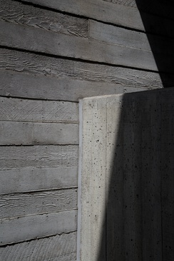 Detail of the National Theatre showing the grain of the formwork