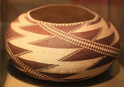 Pomo basket (collected in 1905) in the Ethnological Museum of Berlin