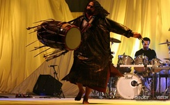 Sufi dhol player Pappu Saeen, from Pakistan