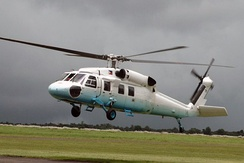 A S-70A-5 Presidential helicopter