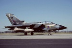 Panavia Tornado GR1A 'ZG711' of No. 13 Squadron at RAF Brize Norton in September 1991, featuring a camouflage colour scheme and squadron markings which were initially used on the squadron's Tornados.
