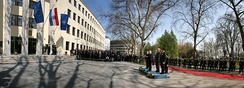 Flag hoisting ceremony at Ministry of Defence marking Croatian accession to the NATO in 2009