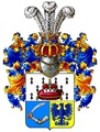 Open Western helmet: coat of arms of the Pushkin family.