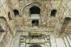 The baoli (step-well) at the Red Fort, Delhi