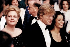 Griffith with Robert Redford and Sônia Braga, Cannes Film Festival 1988