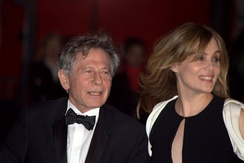 Seigner with husband Roman Polanski at the César Awards 2011.