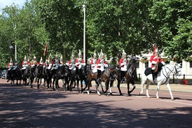 The mounted guard founded by the Household Cavalry is called the Queen's Life Guard