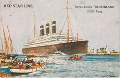 "The ""Belgenland"", a ship of the Red Star Line, was the scene of Belgian jazz performances"