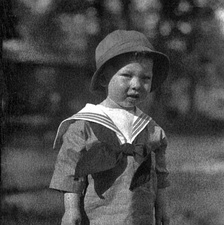 Boy in a sailor suit (1920). The blue sailor suit helped make blue instead of pink the color for boys in the 20th century.