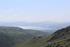 The Sea of Galilee as seen from Gamla in the Golan Heights