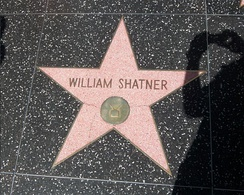 Shatner's star on the Hollywood Walk of Fame