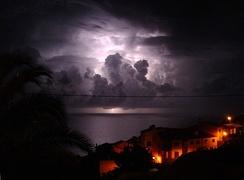 Thunderstorm near Garajau, Madeira