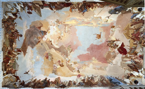 Ceiling fresco in the Würzburg Residence (1720–1744) by Giovanni Battista Tiepolo