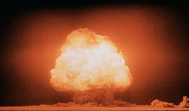 "The Trinity test of the Manhattan Project was the first detonation of a nuclear weapon, which led J. Robert Oppenheimer to recall verses from the Hindu scripture Bhagavad Gita: ""If the radiance of a thousand suns were to burst at once into the sky, that would be like the splendor of the mighty one ""... ""I am become Death, the destroyer of worlds"".[9]"
